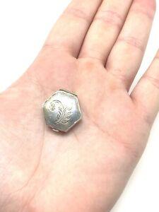 Amazing Vintage 1980s Solid Silver 925 Pill Snuff Trinket Box #394