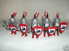 PLAYMOBIL personnage chateau soldat lot 5 chevaliers du cygne arme bouclier épée