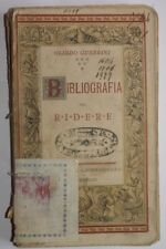 1883 GUERRINI BIBLIOGRAFIA PER RIDERE STECCHETTI 1 ED