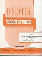 Sevcik: Studien Für Violine op.6 Teil 5 - Bosworth