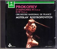 Mstislav ROSTROPOVICH: PROKOFIEV Symphony No.2 & 3 Erato CD Sinfonien Prokofiew