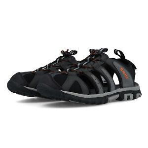 Hi-Tec Mens Cove Breeze Walking Shoes Sandals Black Grey Sports Outdoors