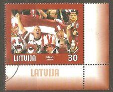 Latvia: single used stamp, World Championship in Ice Hockey-Riga, 2004, Mi#610