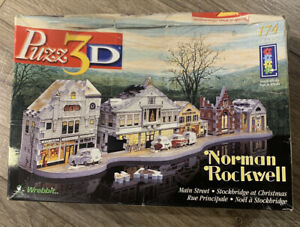 Puzz 3D NORMAN ROCKWELL Main Street Stockbridge at Christmas 174 Piece Puzzle