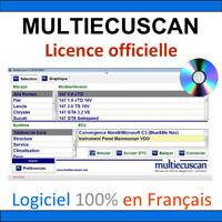 Logiciel Multiecuscan OFFICIEL en Français + 1 an de mises à jour / KKL OBDLINK
