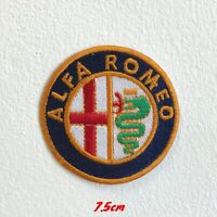 Alfa Romeo Automobiles Motorsports logo Iron Sew on Embroidered Patch #1490