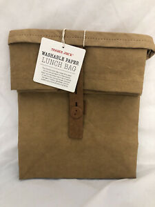 Trader Joe's  Washable Paper Lunch Bag Supernatural 11X7X8.75 in Limited