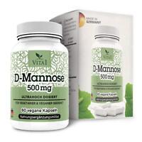 D-Mannose 60 Kapseln 500mg Rein pflanzlich & natürlich frei von Nebenwirkungen