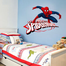 Spiderman Removable Kids Wall Art Stickers Vinyl Decal  Boys Decor Spider-Man