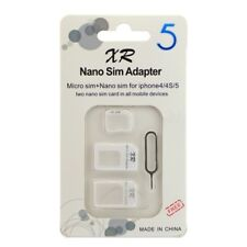 Nano SIM Card to Micro Standard Adapter Converter Set For iPhone 4 5 6 Samsung