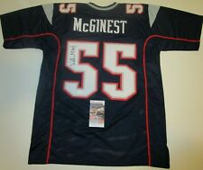 Willie McGinest New England Patriots Auto Autographed Signed Football Jersey JSA