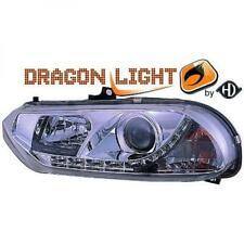 Scheinwerfer Set für Alfa Romeo 156 97-03 Klarglas/Chrom LED Dragon Lights