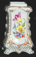 New listing Antique 19thC Nymphenburg Porcelain Hand Painted Large Floral Bouquets Tea Caddy