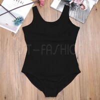 Women Adult Lady Skate Gymnastic Ballet Leotard Dancewear Unitard Skate Bodysuit