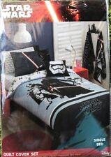 Star Wars The Force SINGLE Bed Quilt Cover Set NEW Kids Boy Gift Duvet Donna
