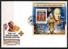 SIERRA LEONE 2017 14th DALAI LAMA TENZIN GYATSO  SOUVENIR SHEET FIRST DAY COVER