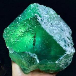 2360g Larger Particles Translucent Blue/Green Stepped Surface Fluorite Crystal