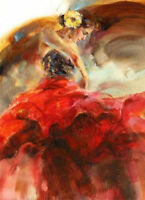 ZWOPT99 100% hand-painted  fancy dancing girl Manual oil painting art on Canvas