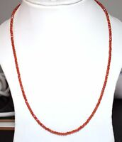 "925 Sterling Silver 13-20"" Necklace Strand Zircon Gemstone 3 mm Faceted Beads"