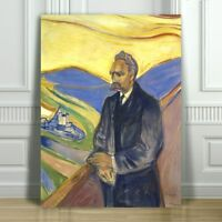 EDVARD MUNCH - Friederich Nietzsche - CANVAS ART PRINT POSTER - 18x12""