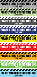 Social Distancing Floor Sticker/Decals - Anti Slip, Stand Behind the Line