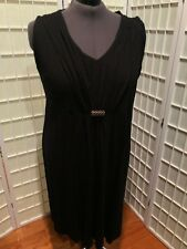 Women's NEW Size 3x (26/26W) Catherines Black Sleeveless Dress with Gold Accent