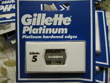 Gillette Platinum Vintage NOS double edge razor blades 5-pack New Old Stock