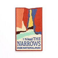 Official Zion National Park Souvenir Patch - I Hiked The Narrows Utah River