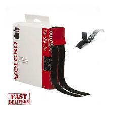 Sticky Back Tape Adhesive Hook Loop 15'x3/4'' Black Velcro Brand Waterproof Self