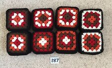 """(Lot 187) New 48 Vintage Style Crochet Afghan Throw 4"""" Appox Granny  Squares"""