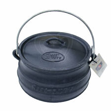Best Duty #7172 Cast Iron Platpotjie Pot & Lid Size 3 with Lid Lifter