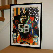 Jack Lambert Pittsburgh Steelers Football NFL Sports Poster Print Wall Art 18x24