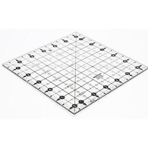 "Liquidraw Square Quilting Ruler, Acrylic Quilting Square Template Imperial 6.5"""