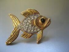 schöner Fisch - mit Strass - Anstecker, Pin, Clutch - neu -