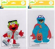 Sesame Street Muppets Elmo and Cookie Monster Halloween Window Gel Clings