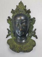 Tibetan Bronze Wall Hanging Bust Tara GuanYin