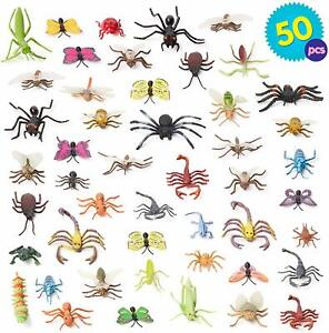 Plastic Mini Insect Bugs Action Kids Toys Jungle Decor Loot Party Bag Filler