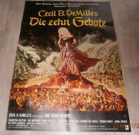 A1-Filmplakat  DIE ZEHN GEBOTE , CHARTON HESTON, ANNE BAXTER