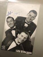 Les 3 Milson Photo Ancienne Photographie Dédicacé Signé Vintage Chanteur 1930