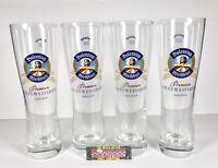 Valentins Weissbier Park & Bellheimer Set Of (4) 16 oz Pint Beer Glasses - New!