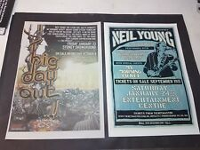 NEIL YOUNG BIG DAY OUT AUST POSTER,MAGAZINE PAGE TOUR POSTER,A3 SIZE