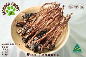 KANGAROO ROO TENDONS FREE RANGE NATURAL HEALTHY HIGH QUALITY DOG TREAT