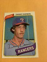 #498 Danny Darwin Texas Rangers 1980 Topps Baseball Card Cb20