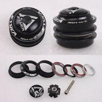 "1-1/8"" Threadless Bearings Headset 44mm MTB Road Bike Bicycle Sealed Parts Black"