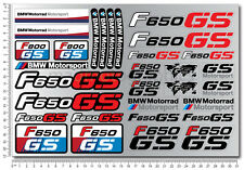 F650GS motorcycle motorrad decal sticker set 31 quality stickers bmw f650 gs