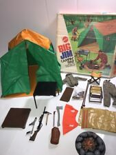 1972 Mattel Big Jim Campin' Tent # 8873 w/Original Box Vintage Toy Incomplete