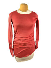 Michael Stars The Original Tee Maternity One Size Tunic Dark Red Top Long Sleeve
