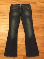 "True Religion ""Joey"" Twisted Boot Cut Jeans W/Gold Studs; Size 26"