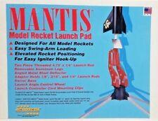 "AEROTECH Mantis Model Rocket Launch Pad  w/ 1/4"" Launch Rod 89281 - NEW!"