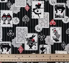 Kokka Japanese Fabric - Alice and Friends - Black - 100% Oxford Cotton